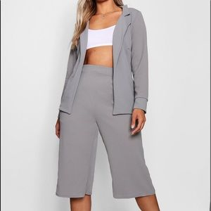 Open Blazer Culotte Suit Co-ord